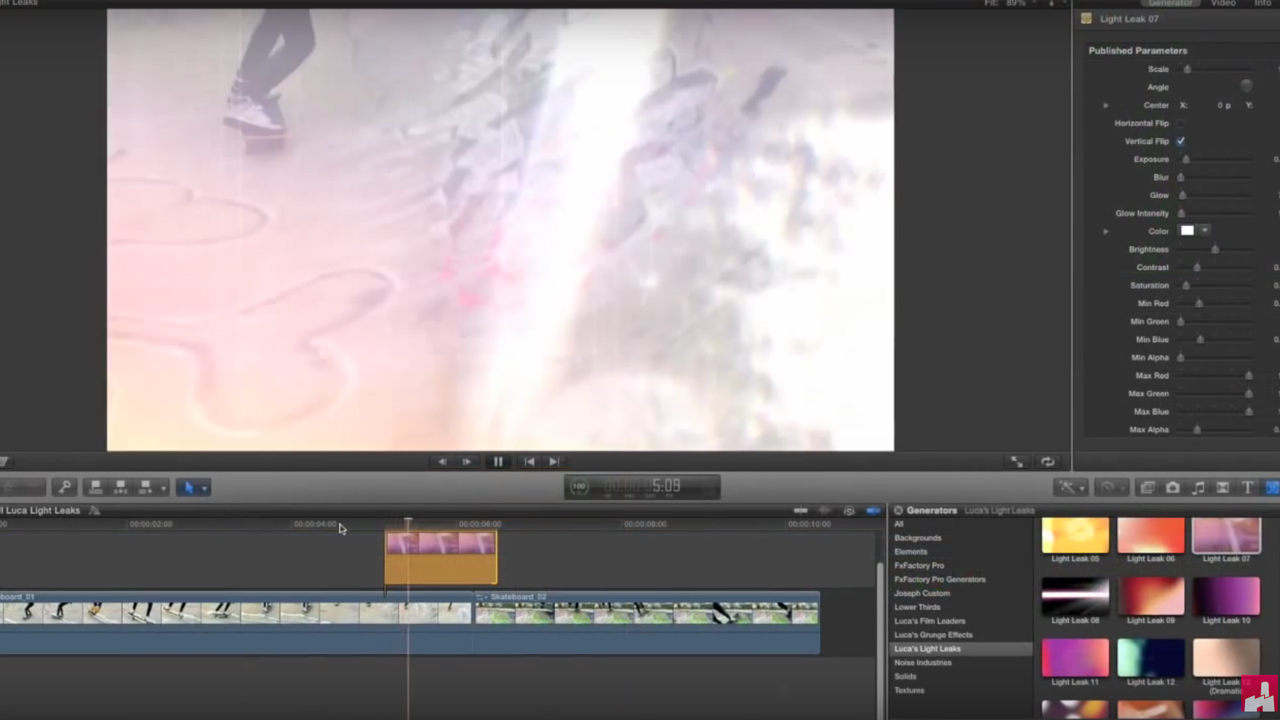 Luca Visual FX Light Leaks Tutorial