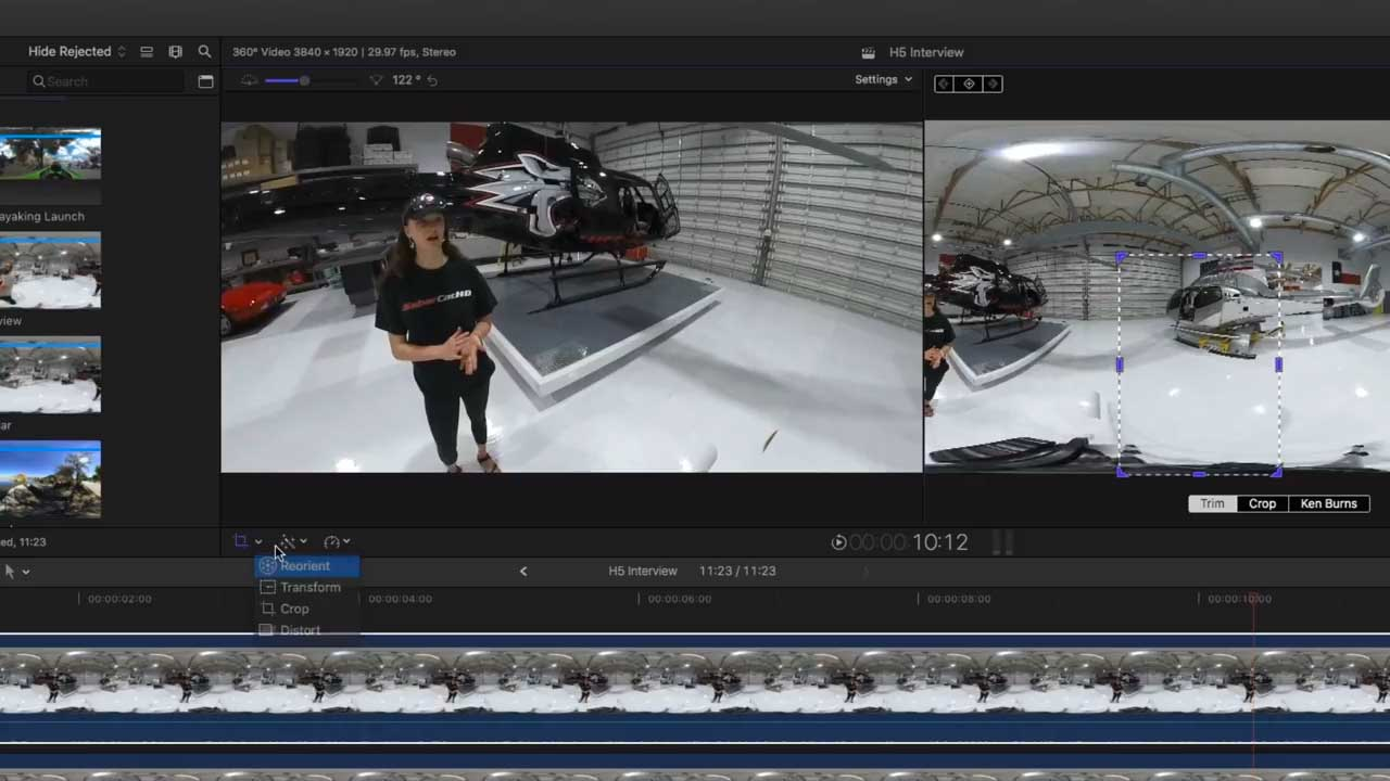 Removing a Subject in 360 Videos