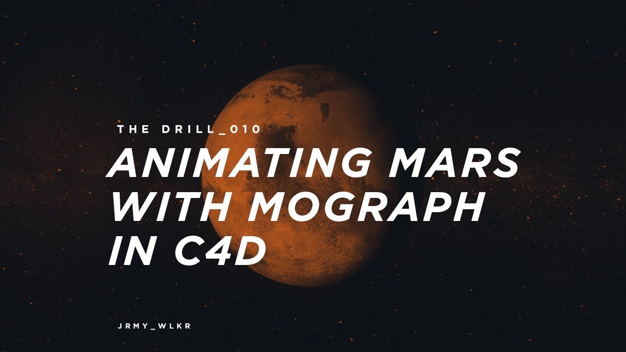 Animating Mars with MoGraph in Cinema 4D and After Effects
