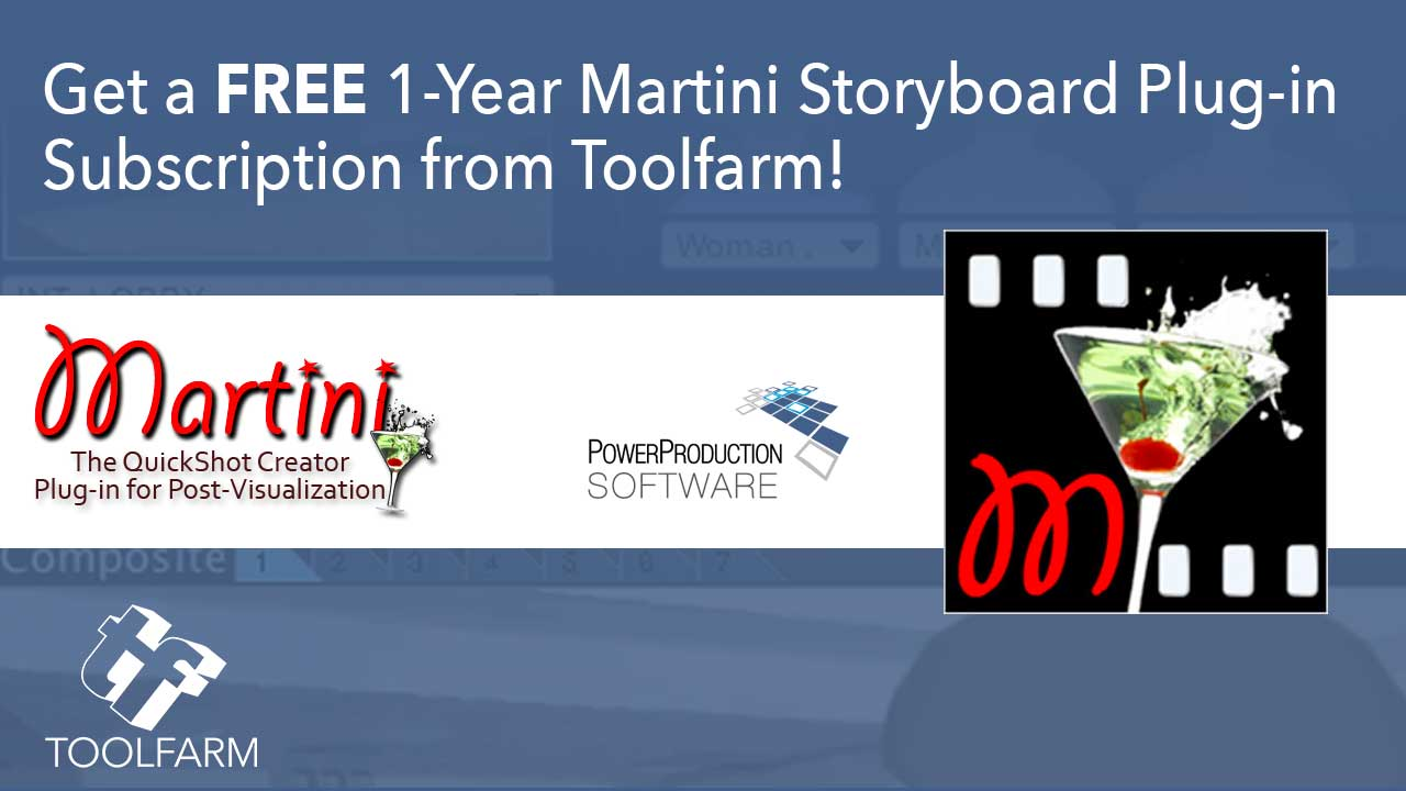 Download a Free Martini Storyboarding Plug-in from Toolfarm!