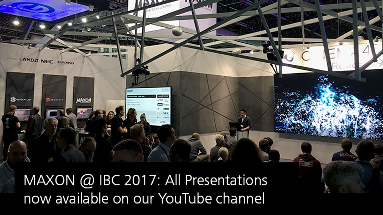 News: MAXON IBC Presentation Archives Available