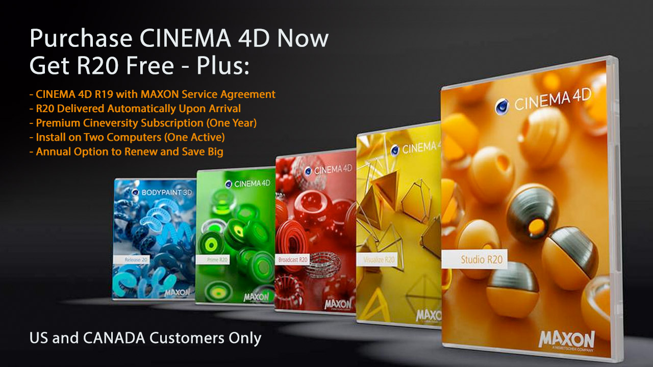 Promo: Buy Cinema 4D R19 Now, Get R20 Free!