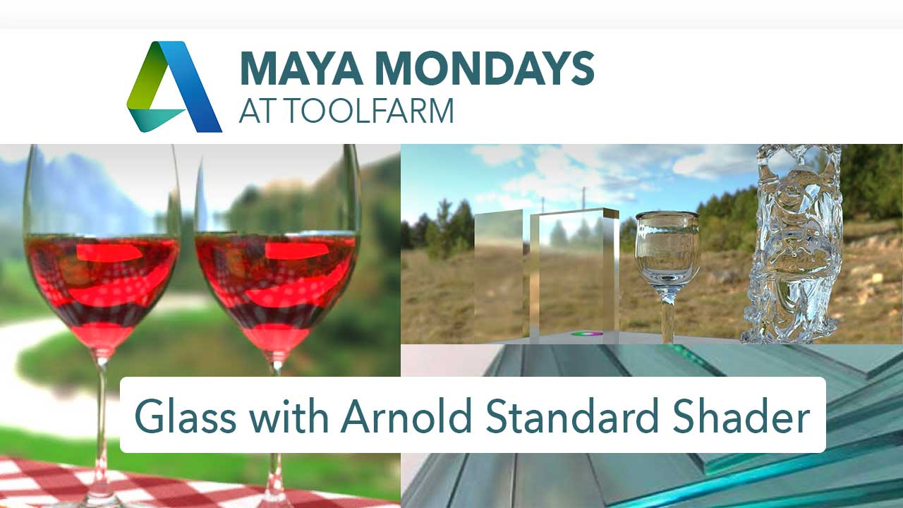 5 Tutorials about Creating Glass in Maya with Arnold's aiStandardSurface