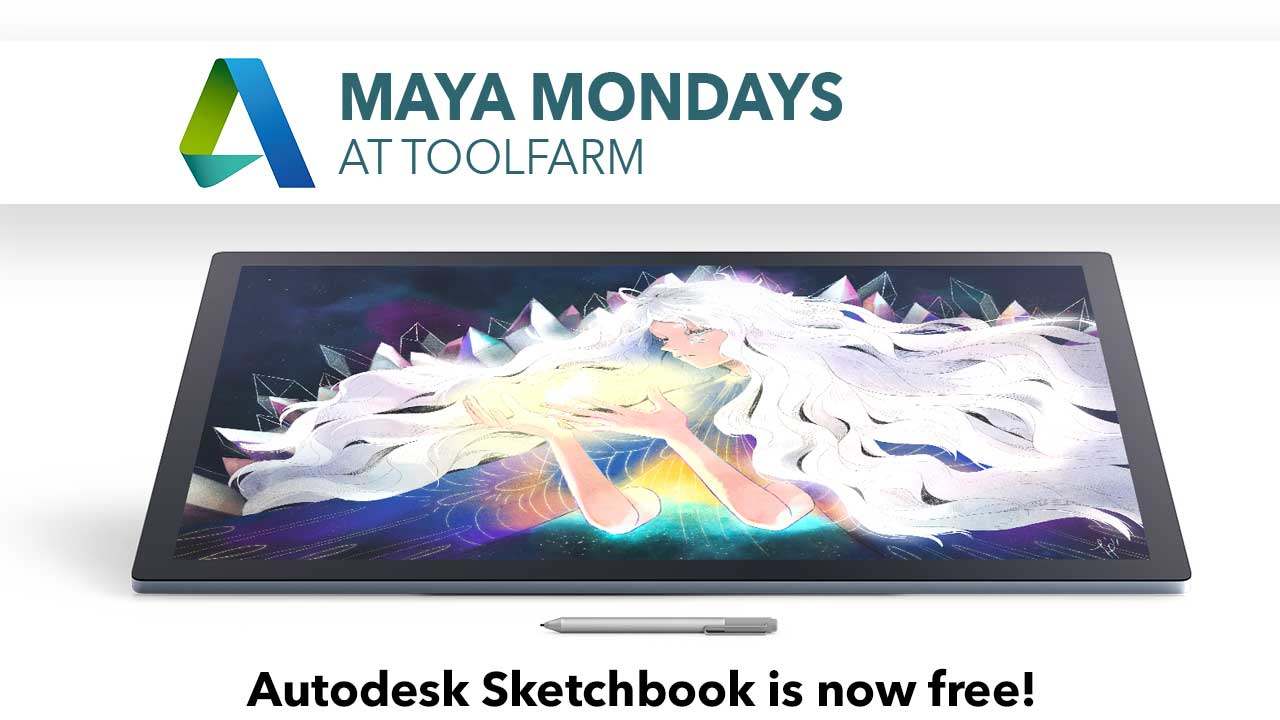 Maya Monday: Autodesk Sketchbook is Now Free! + Tutorial