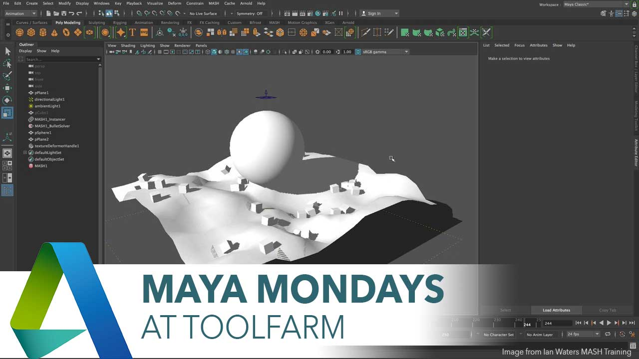 The New MASH Dynamics Node in Maya 2018