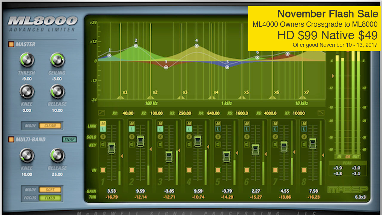 Sale: McDSP Flash Sale - Save on ML8000 Advanced Limiter - Now through November 13 Only