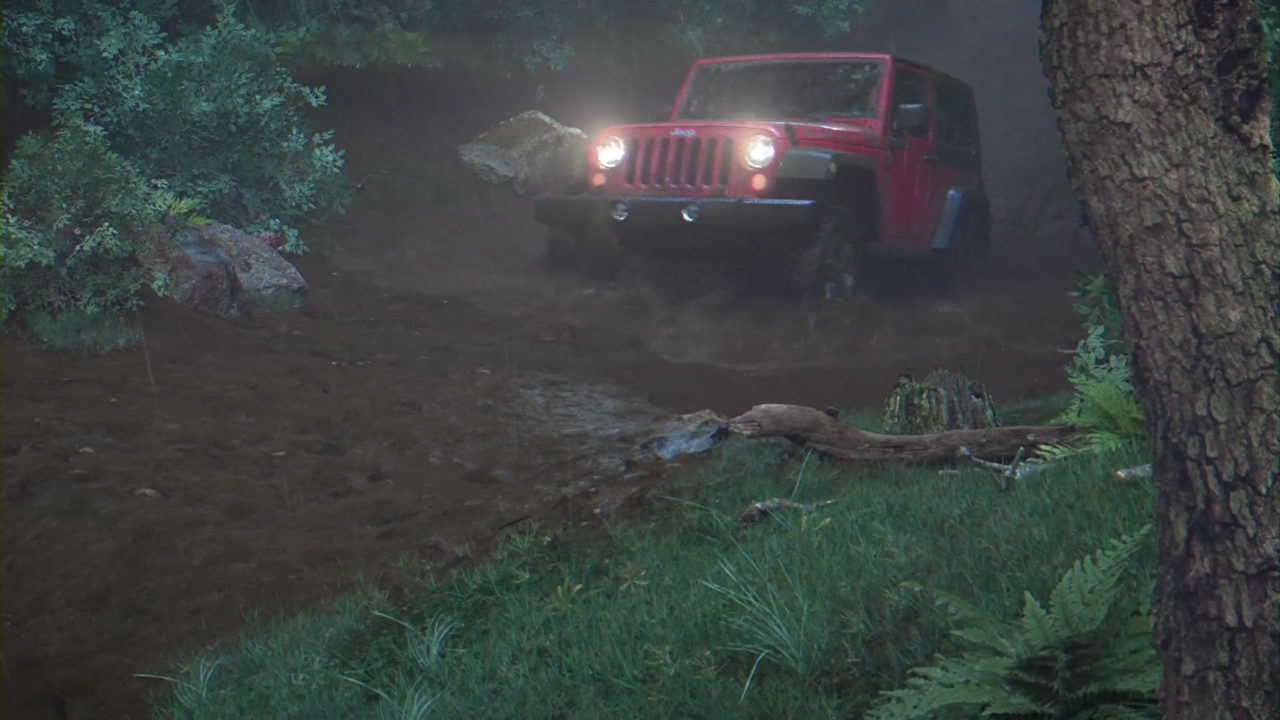 Midweek Motivation: Houdini/C4D/Redshift – Jeep Driving Through Mud