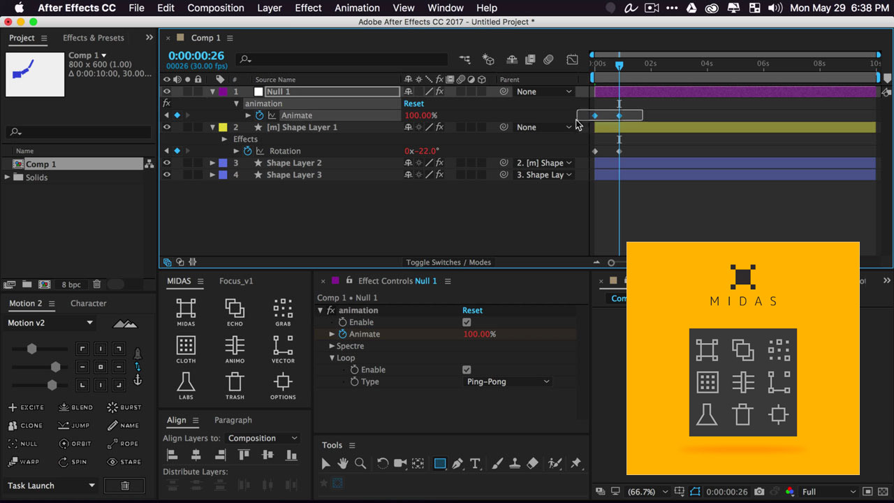 Update: Mt. Mograph Midas v2 – After Effects CC 2018 Compatible