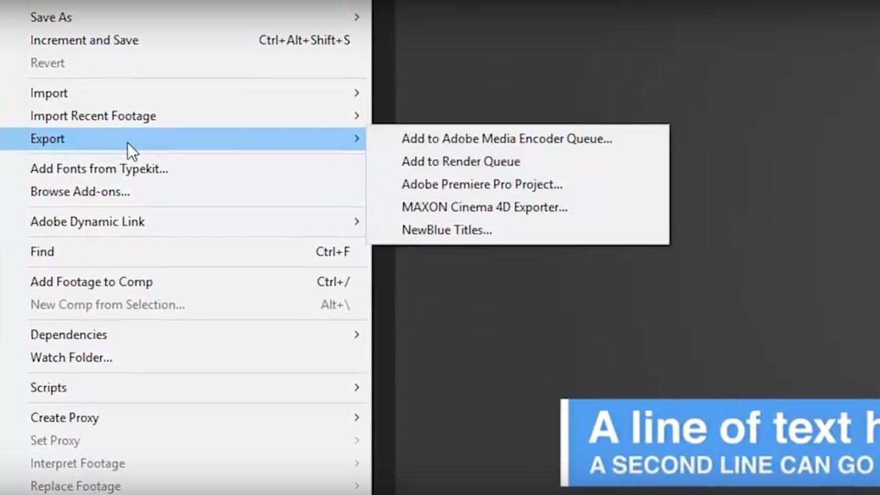 NewBlueFX Titler Pro After Effects Import Feature - Toolfarm
