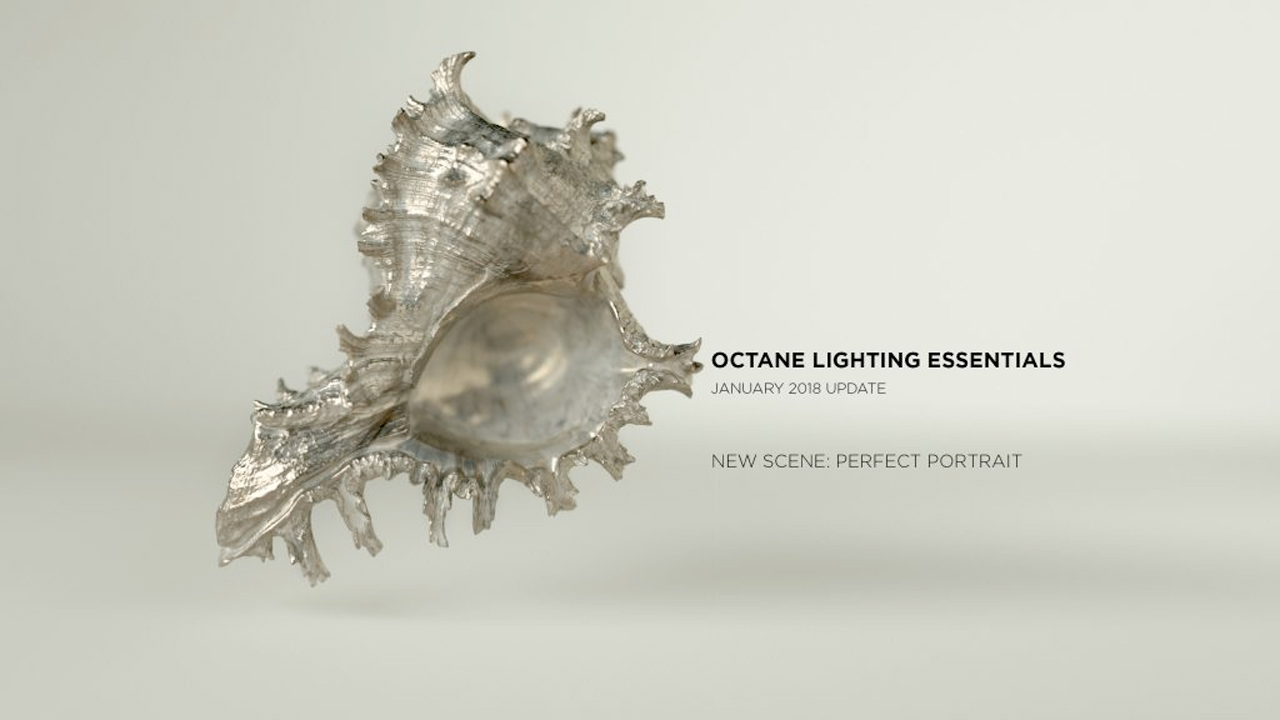 Update: RenderKing Octane Lighting Essentials – New Scene: Perfect Portrait