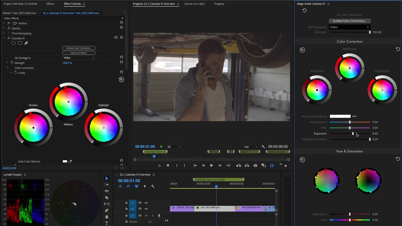 Tutorial: Open As A Panel in Red Giant Colorista