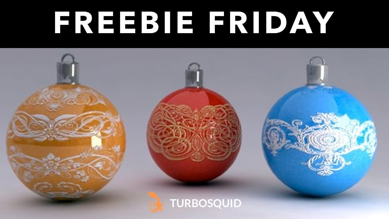 Freebie: Christmas Ornaments from Turbosquid
