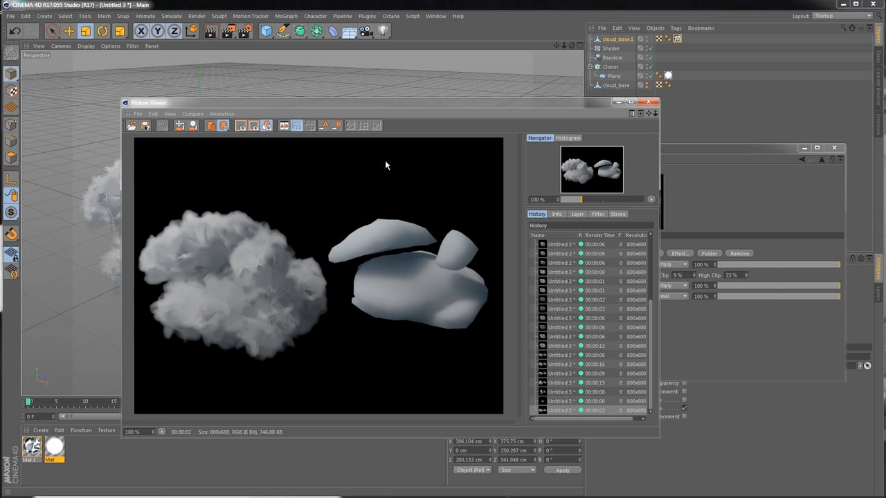Cinema 4D: Creating Clouds with a Painterly Look
