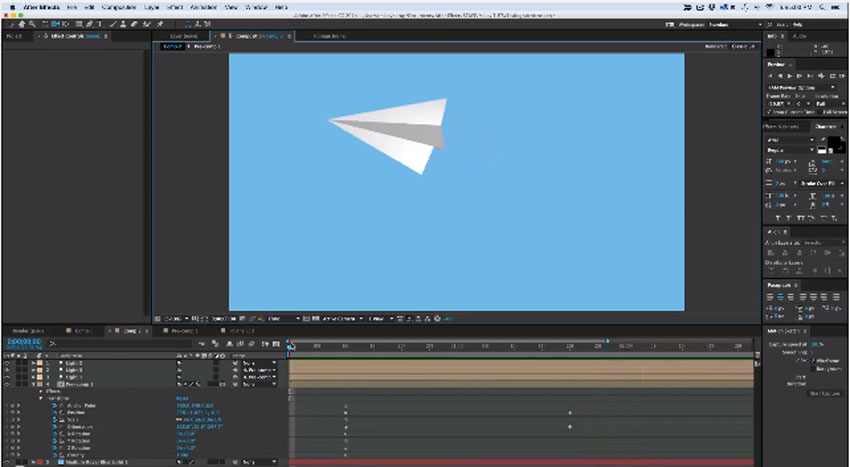 Create a Paper Airplane in After Effects.