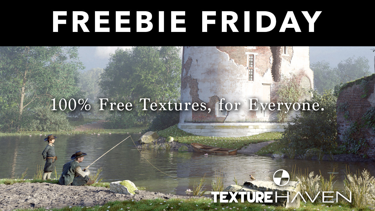 Freebie: Free 8k PBR Textures from Texture Haven