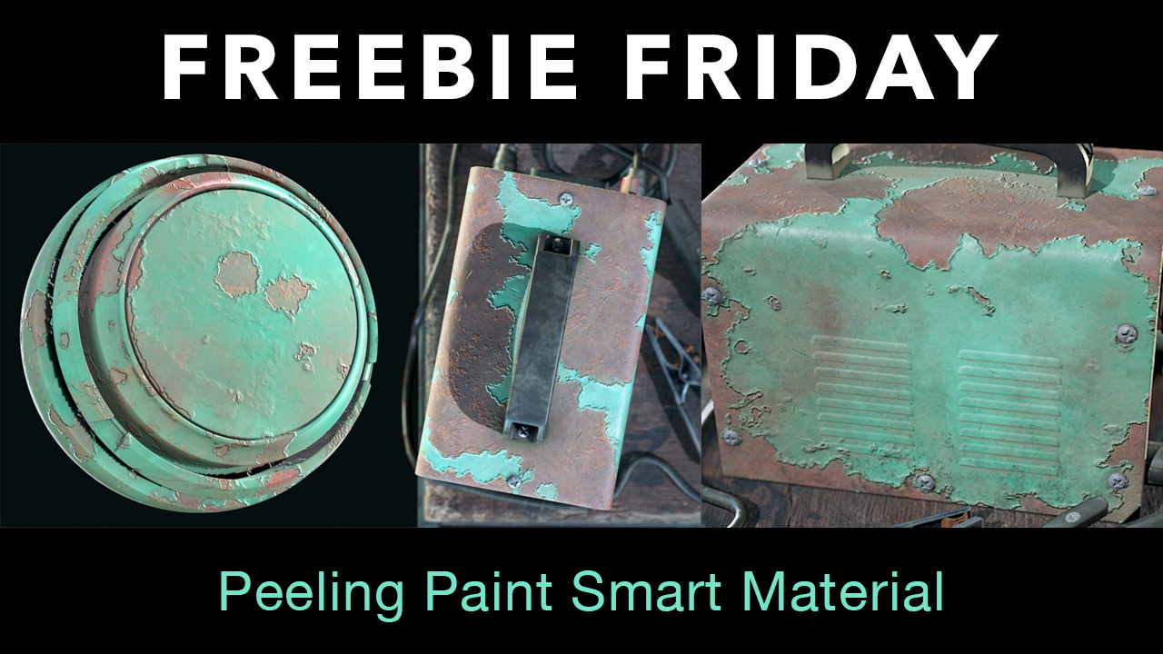 Freebie: Substance Painter: Free Peeling Paint Smart Material