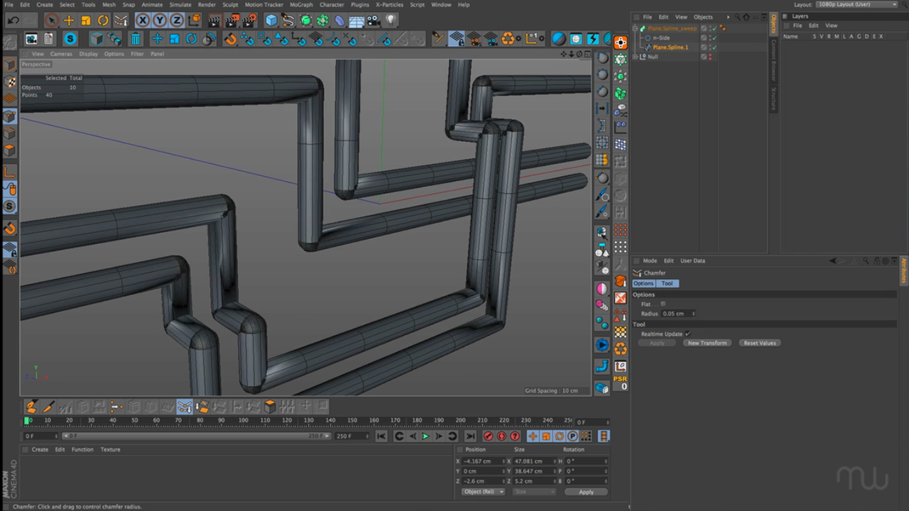 Cinema 4D: Creating Pipes and Rails