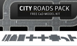 Freebie Friday: Pixel Lab City Roads Pack, Free C4D Model Kit