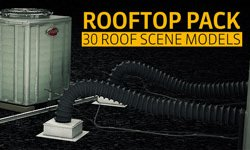 New: The Pixel Lab 3D Rooftop Pack - Over 30 3D Models at a Great Price