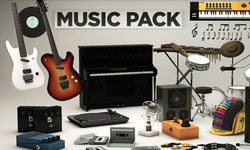 New: The Pixel Lab 3D Music Pack for Maxon Cinema 4D