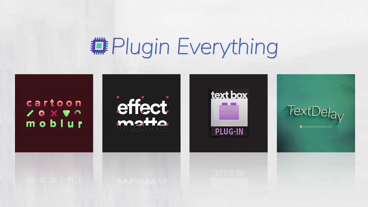 New: Plugin Everything Plugins for After Effects