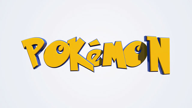 C4D and AE: 3D Pokemon Title