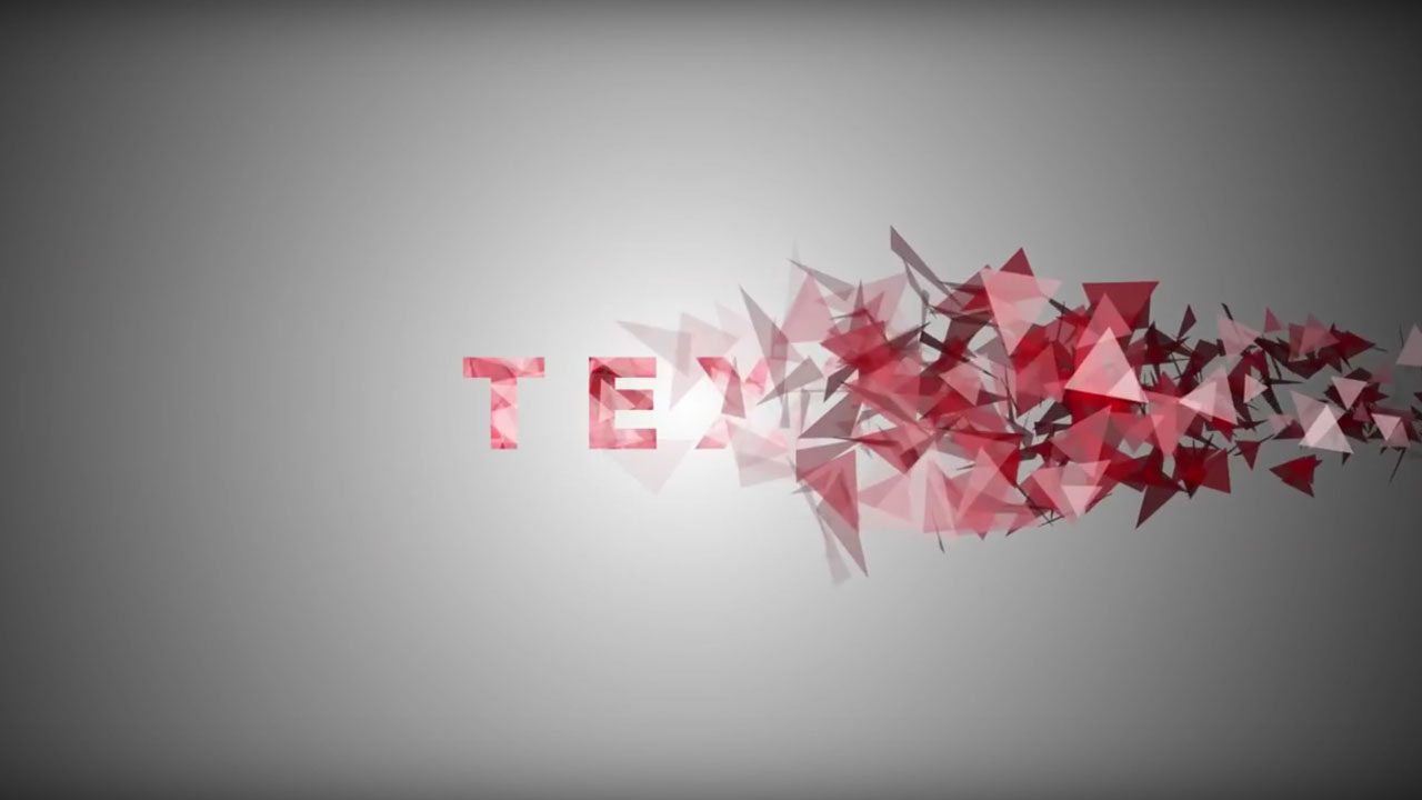 After Effects and Particles Text Effect