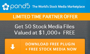 Offer: Download The Pond5 Plugin, Get 50 Stock Media Files Valued at $1,000+ Free
