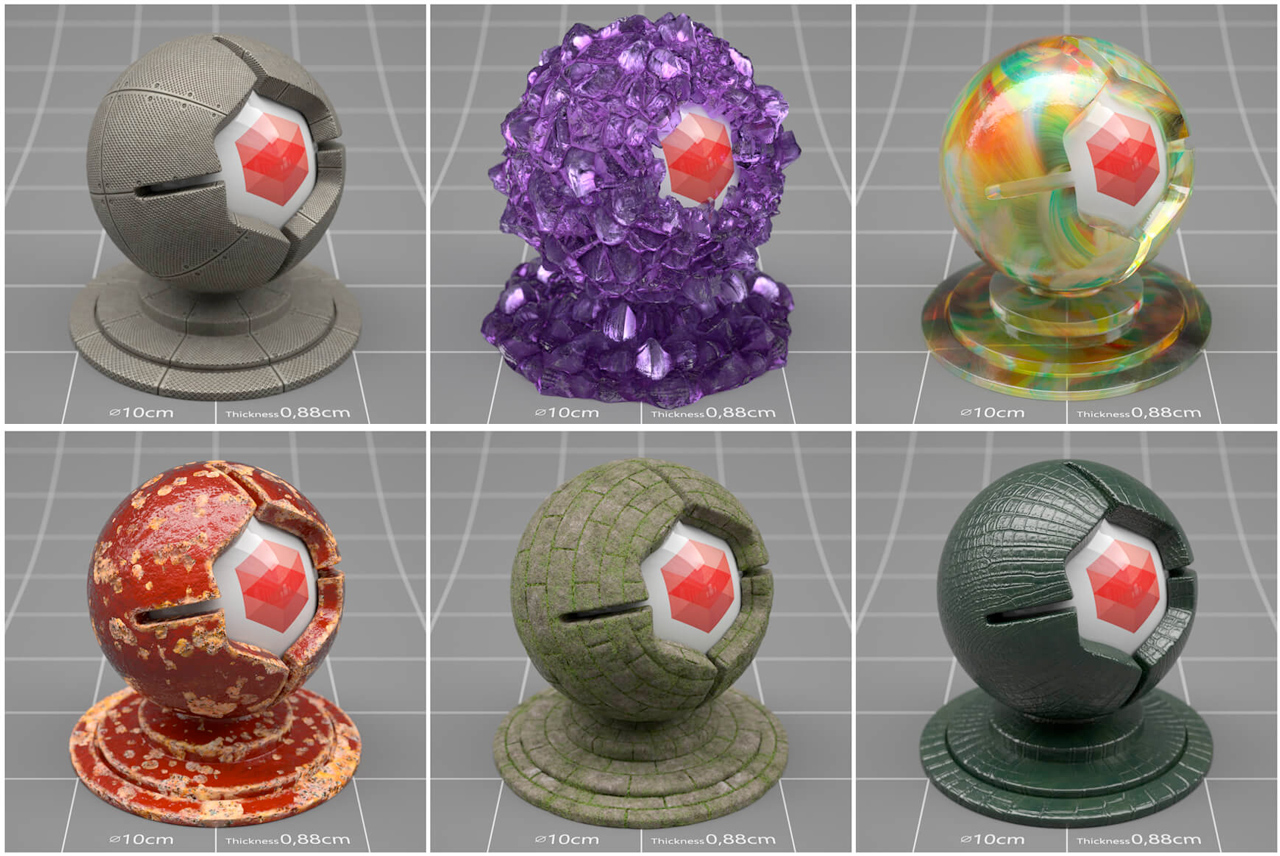 redshift materials samples