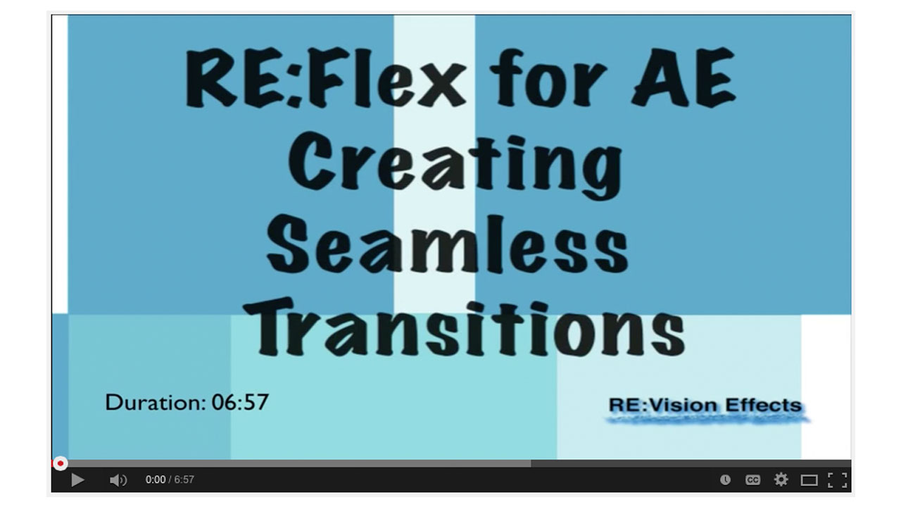 Creating Seamless Transitions with RE:Flex for After Effects