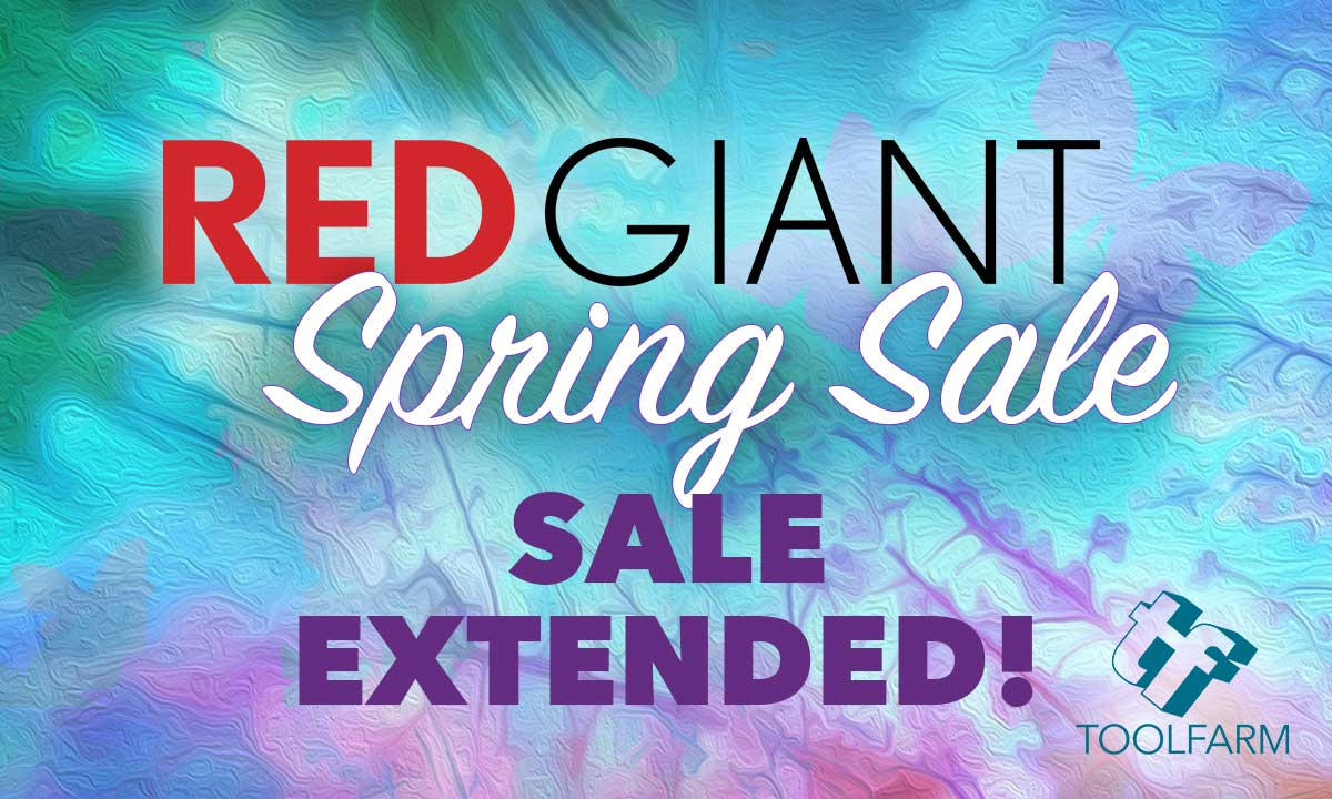 Sale: Red Giant Flash Sale Has Been Extended - 25% Off All Products - 24 More Hours Only