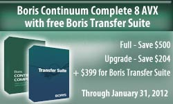 Limited Time: Get Free Boris Transfer Tools with Continuum Complete 8 AVX
