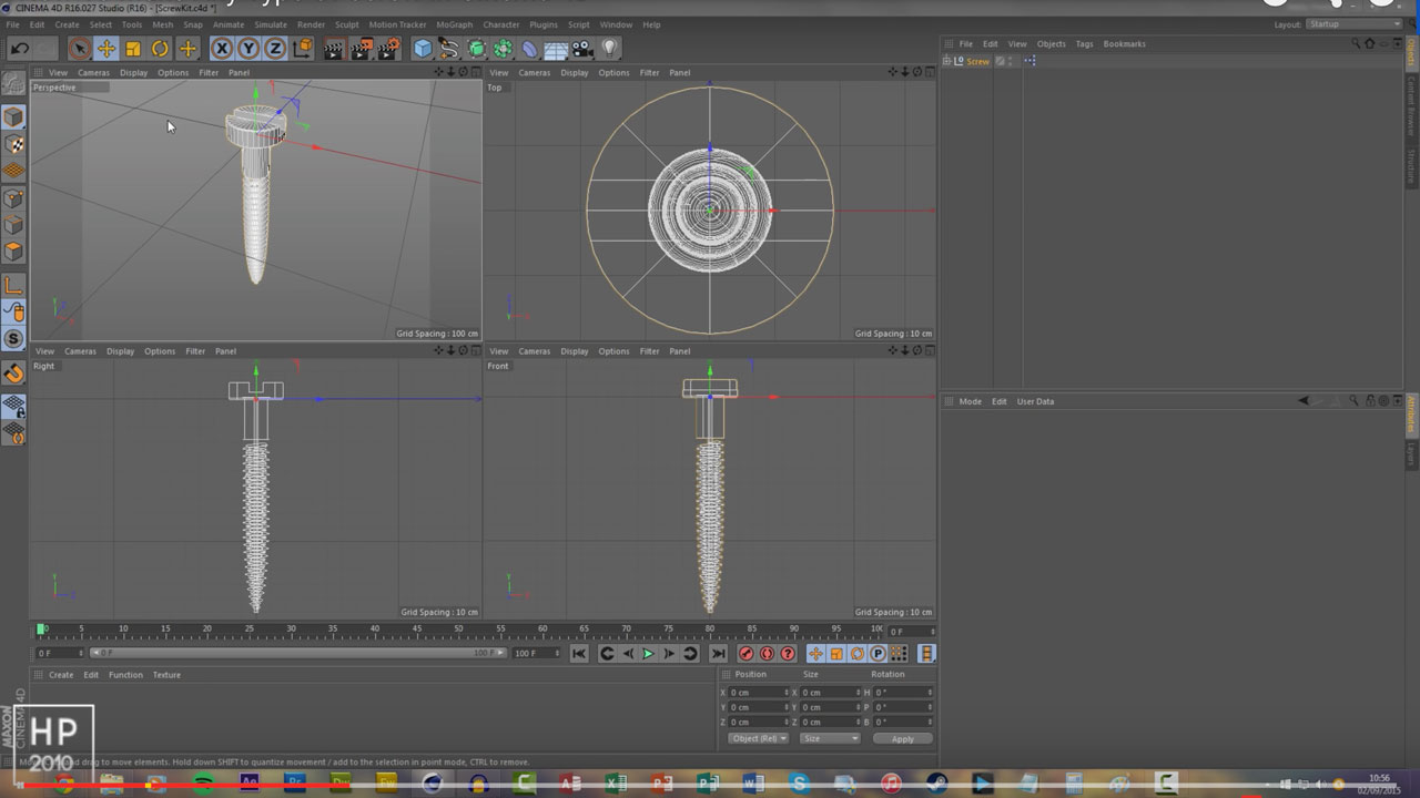 How To Make Any Type Of Screw In Cinema 4D + free plugin