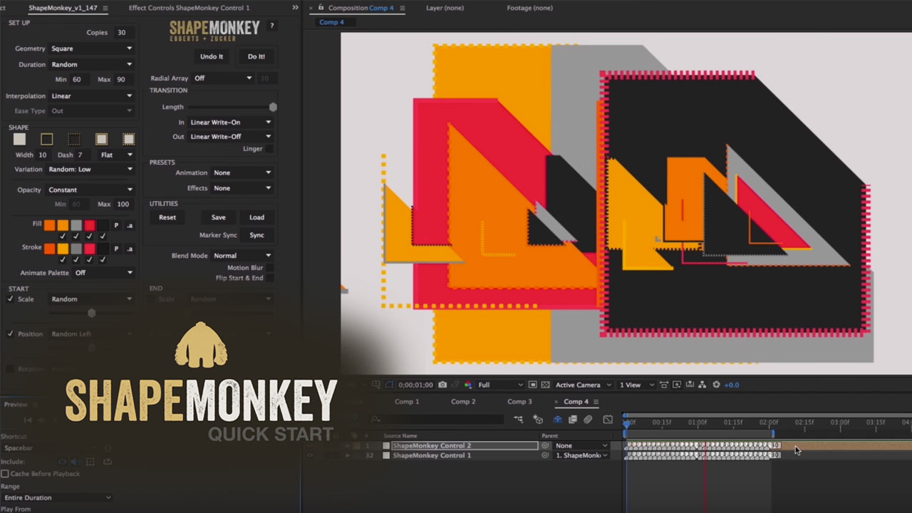 Tutorial: ShapeMonkey for After Effects - Getting Started - 20% Off Ends 01/25/17