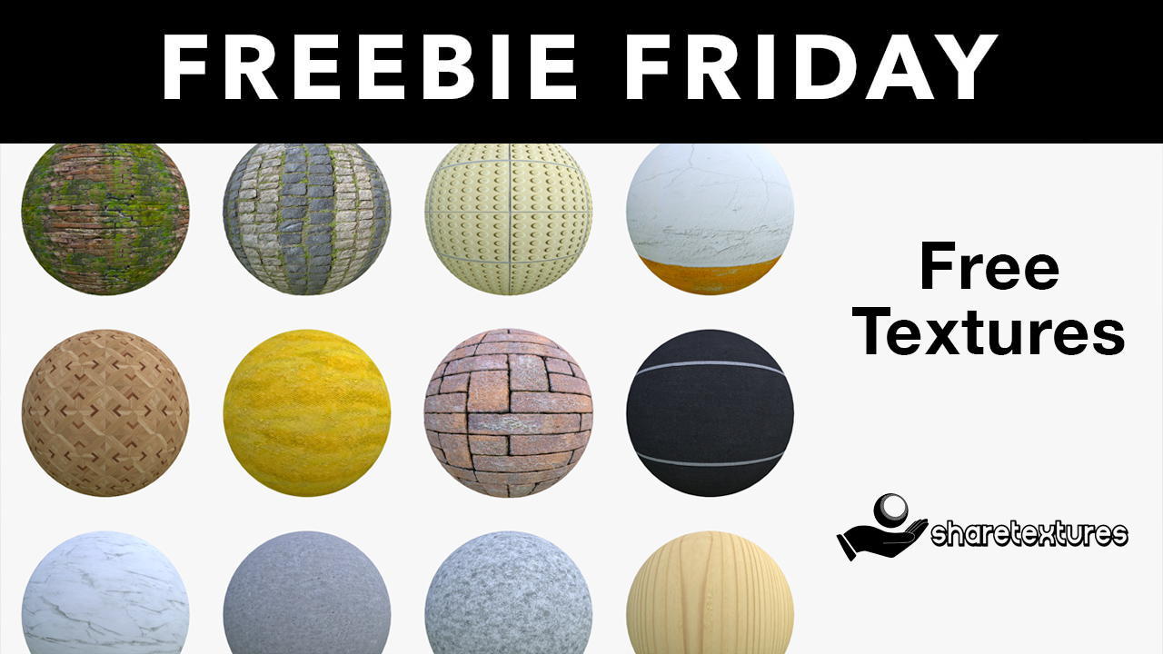Freebie: Textures: Download 100+ free 4K texture sets from Share Textures