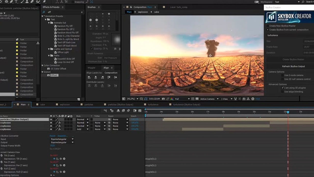 How To Stabilize 360 Footage and Add VFX in After Effects