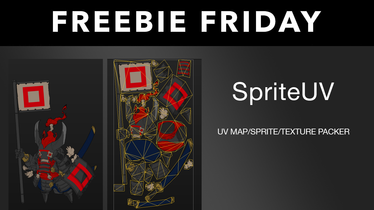 Freebie: Sprite UV v1.22 – UV Map/Sprite/Texture Packer