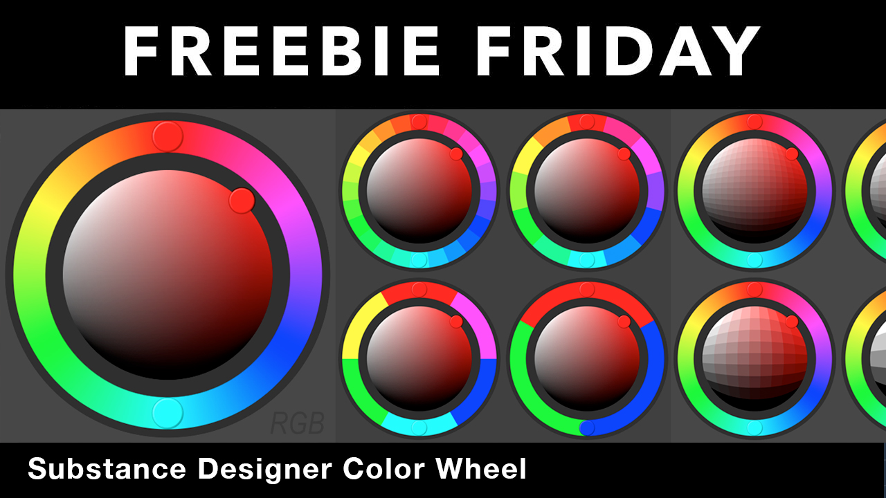 Freebie: Substance Designer Color Wheel