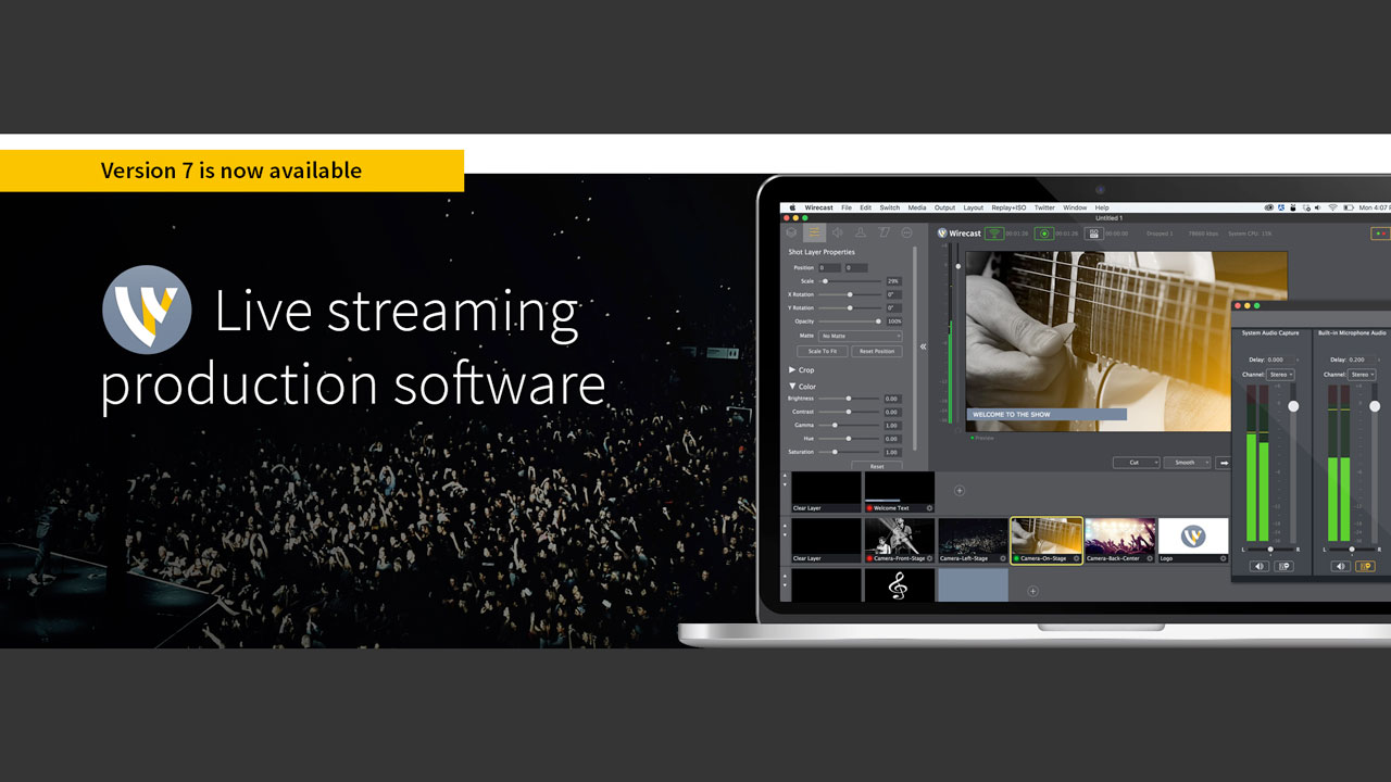 New: Telestream's Live Streaming Software, Wirecast 7, is now available