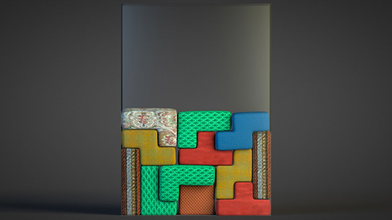 Freebie: Cinema 4D Project File: SoftBody Tetris