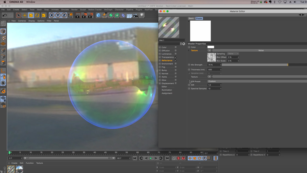 Tutorial: Cinema 4D R18 Thin Film Shader for More Realistic Materials