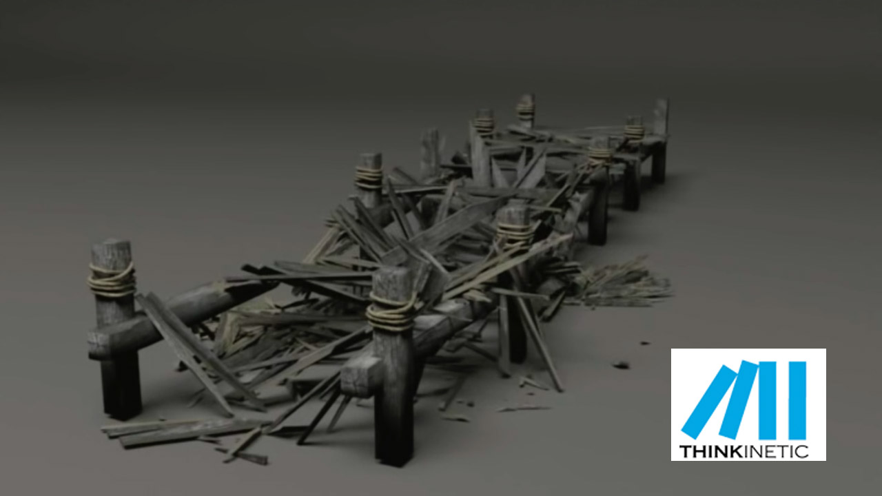 3ds Max – Destroying a Wooden Pier with Pulldownit 3ds Max