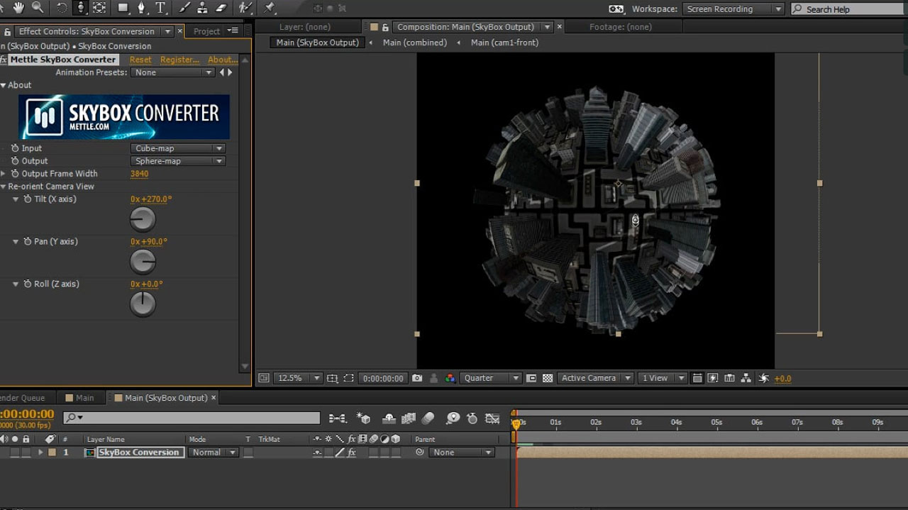 AE: Tiny Planet in After Effects