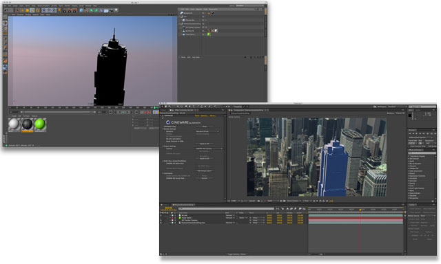 Track a 3D object into live footage with After Effects and Cinema 4D
