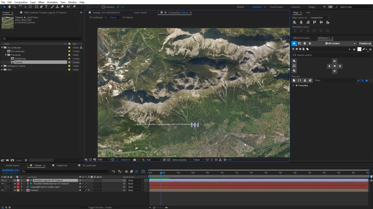Tutorial: 360° Landscapes with FreeForm Pro + GEOLayers 2 + After Effects CC 2019