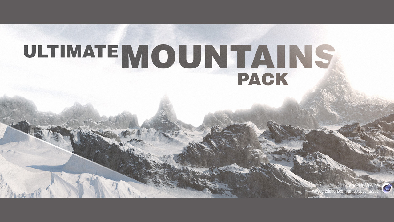 Freebie: Ultimate Mountains Pack for Cinema 4D