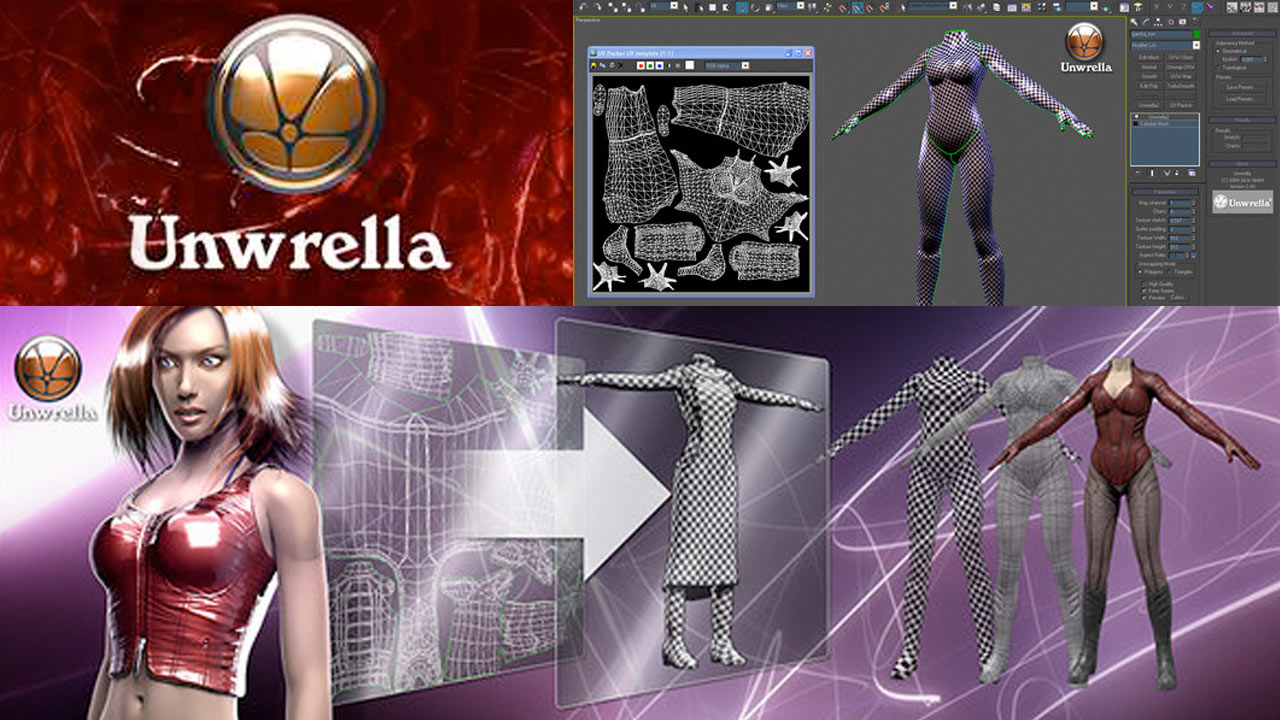 Update: 3d-io Unwrella v3.1 for 3ds Max and Maya – One-Click Automatic UV Unwrapping