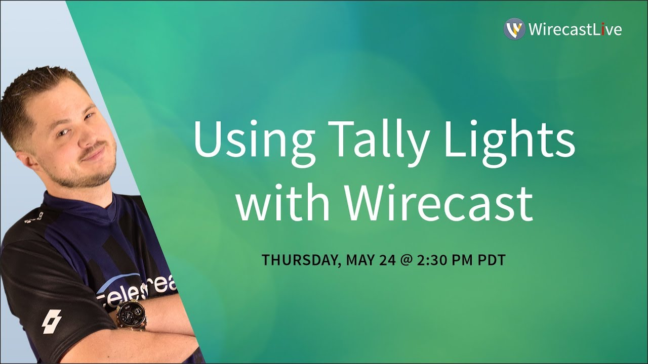 Using Tally Lights with Telestream Wirecast