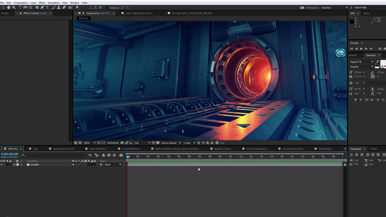 element 3d v2.2 -  and crack (for adobe after effects)