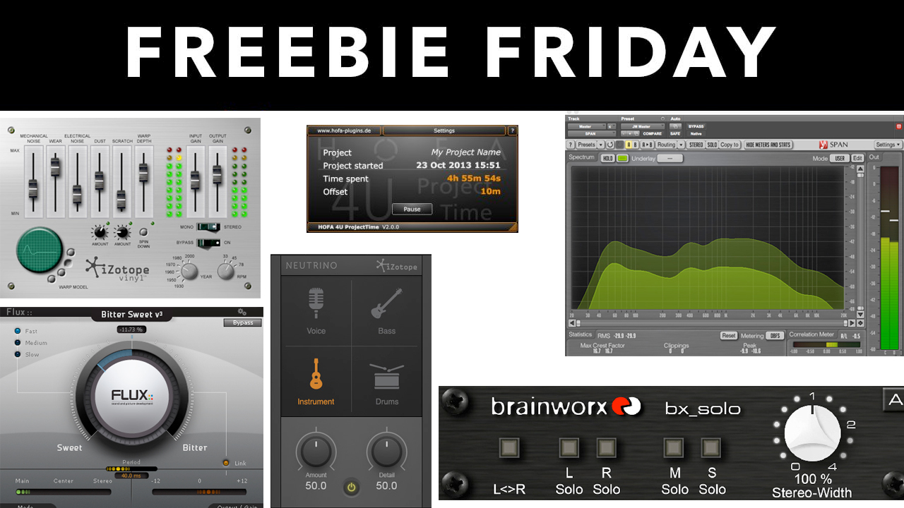 Freebie: 7 Free Audio Plugins That Will Improve Your Mixes